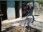This rope pump for communal supply was installed near San Isidro in 1998.