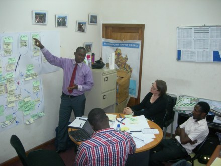 Mapping information flows in the Liberia WASH Sector with the NWSHPC
