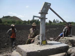 A handpump in Ethiopia