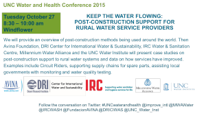 Keep the water flowing side event