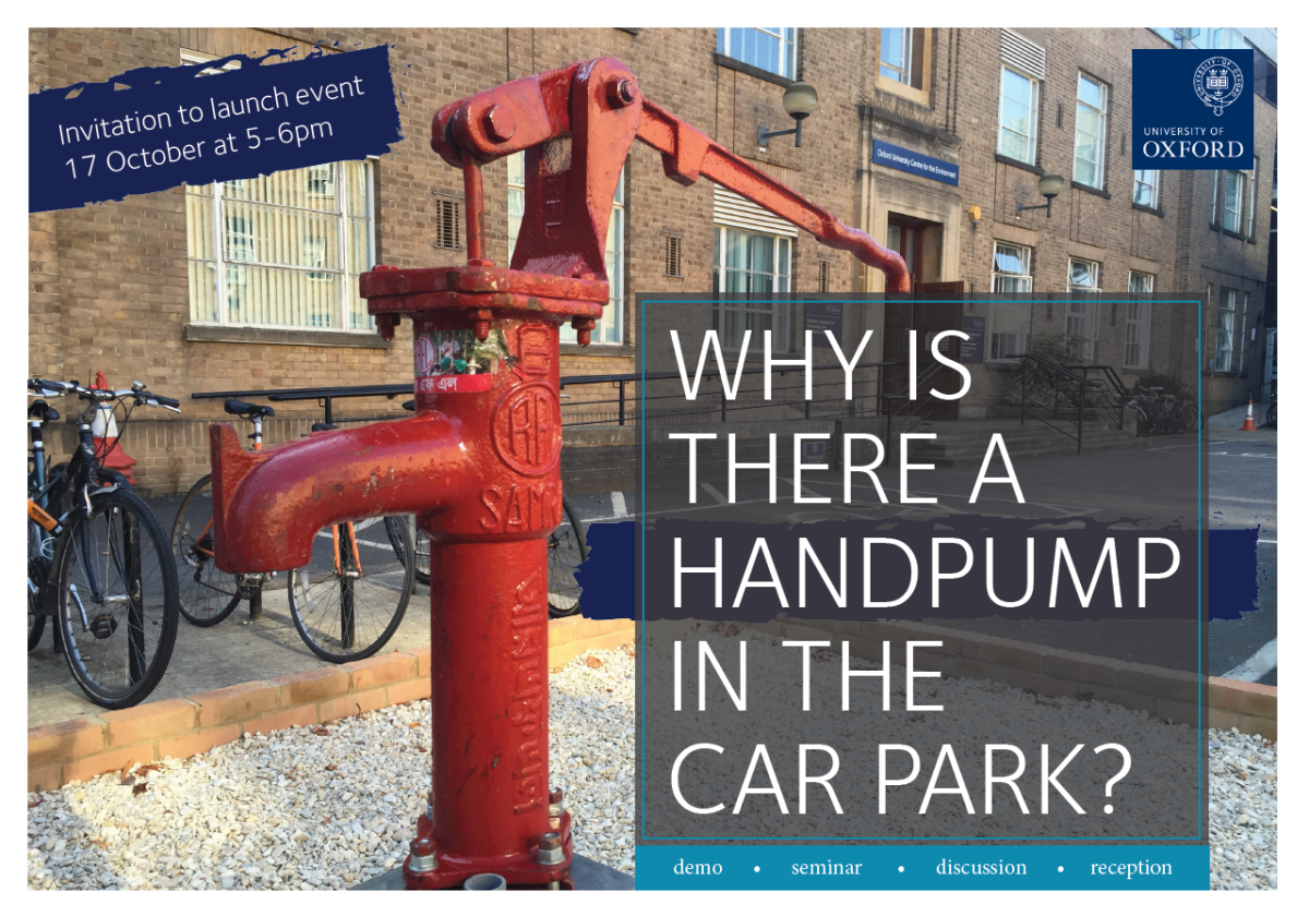 Why is there a handpump in the carpark?