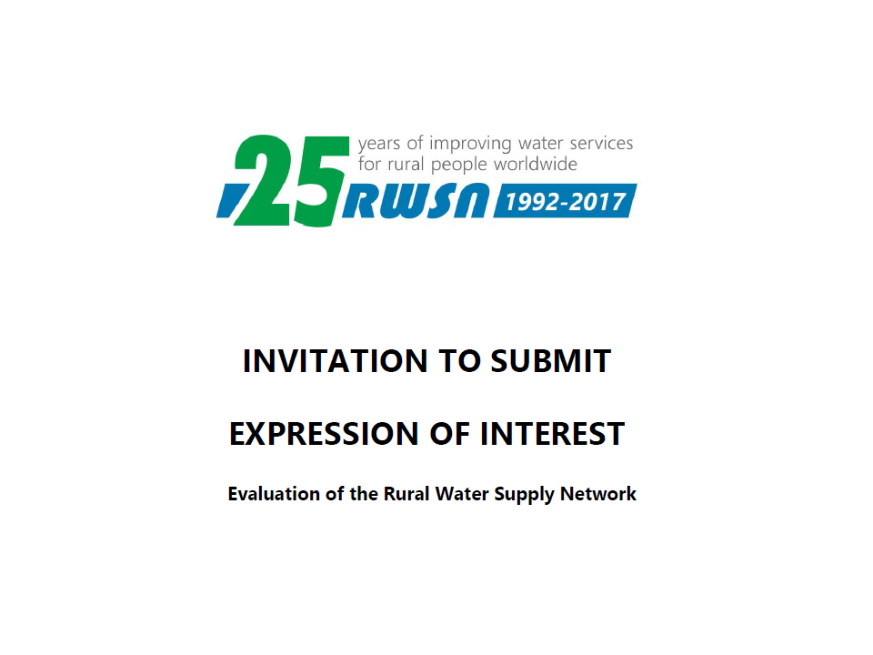 OPEN CALL: Evaluation of RWSN – Call for proposals (ENGLISH ONLY)