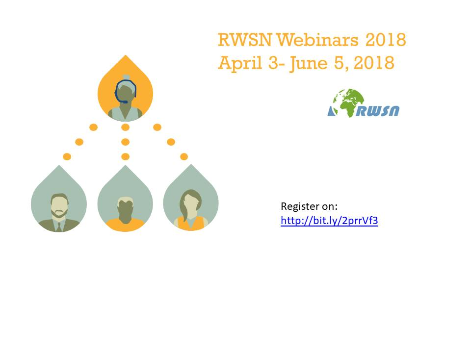 New 2018 RWSN webinar series (April 3rd – June 5th, 2018)