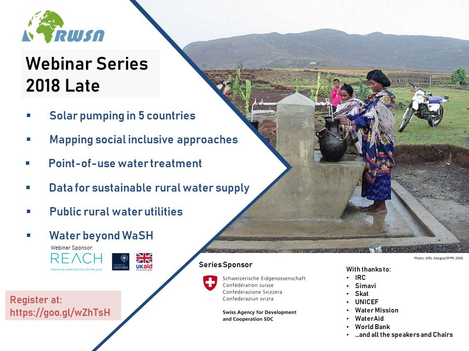 :: REGISTER NOW :: RWSN Webinar Series Oct/Nov