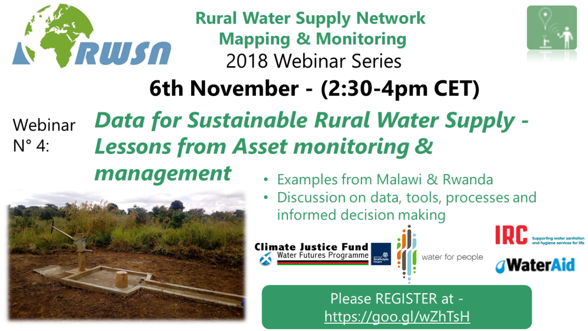 Webinar 6 Nov: Data for Sustainable Rural Water Supply