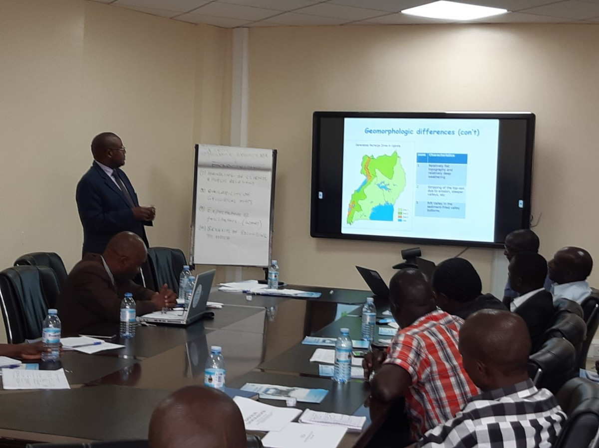 Ugandan drillers receive training at the Water Resources Institute