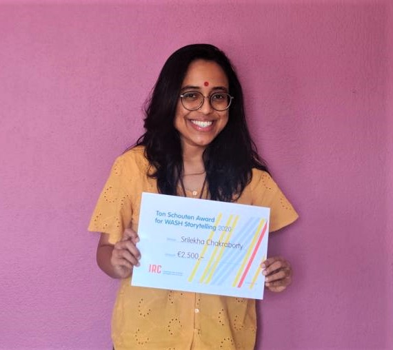 Srilekha Chakraborty uses art in her activism for women's health –  2020 Ton Schouten Awardee for WASH Storytelling